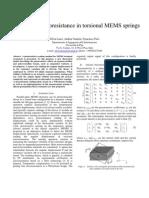 A model for piezoresistance in torsional MEMS springs