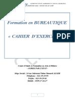 Cahier d'Exercices Bureautique Dihia