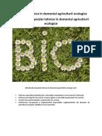 Obiectivele Inspecției tehnice în domeniul agriculturii ecologice
