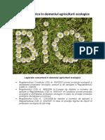 Legislația comunitară în domeniul agriculturii ecologice
