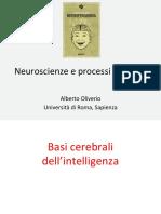 Oliverio Neuroscienze e processi cognitivi Attanasio 27032015