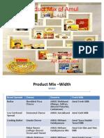 Amul product mix