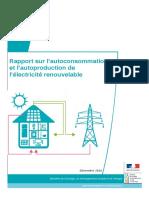 Rapport Autoconsommation - DGEC