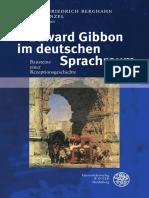 Berghahn, Cord-Friedrich; Kinzel, Till - Edward Gibbon im deutschen Sprachraum. Bausteine einer Rezeptionsgeschichte (2015, E-Buch)