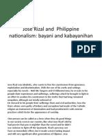 Jose Rizal and  Philippine nationalism