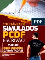 PCDF Coletanea Completa de Simulados Escrivao Prop 2