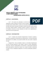 REGULAMENTO DAS ATIVIDADES COMPLEMENTARES Design APÓS 2016.2