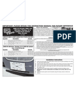 05 UP CHRYSLER 300 LICENSE PLATE INSTALLATION MANUAL CARID.COM