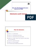 Audit interne.CFC-ONE toubali