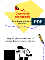document and record