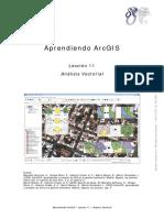 Aprendiendo  ArcGIS - Leccion11, Analisis Vectorial