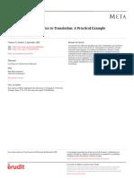 Applying Frame Semantics to Translation