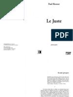 Ricoeur, Paul - Le Juste (OCR fr)