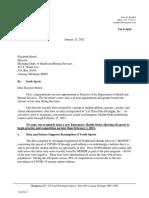 Letter to Director Hertel
