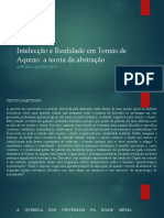 Intelecção e Realidade em Tomás de Aquino _slides