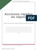 ¿Qué son las Acciones rápidas en la Plataforma EGA Futura_ » Glosario [Funcionalidad] ? ERP nube