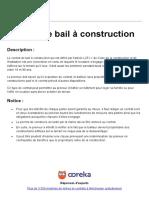 Ooreka Contrat de Bail a Construction