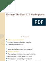 E-Hubs the New B2B Marketplaces