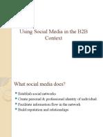 Using Social Media in the B2B Context