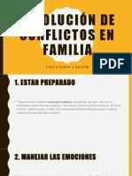 Resolución de conflictos en familia