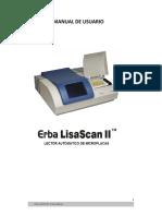 LECTOR DE MICROPLACAS Erba Lisa Scan II manual en español