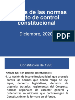 Análisis sobre las normas objeto de control constitucional