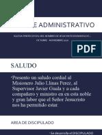 Informe Administrativo Octubre Diciembre