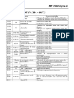 Códigos de Falha DCC2