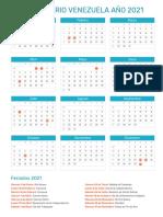 Calendario de Venezuela año 2021 _ Feriados