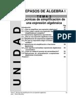 Unidad 1 - Tema 3_ Técnicas de simplificación de una expresión algebraica
