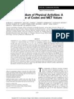 Articulo Compendio de Actividades Físicas 2011