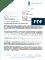 Lee Health board of directors letter