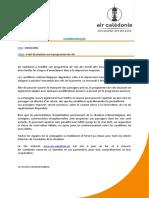 2021-02-03- Communique Point de Situation Programme de Vols