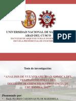 ANALISIS DE VULNERABILIDAD SISMICA DEL TEMPLO COLONIAL DEL DISTRITO DE CHINCHERO