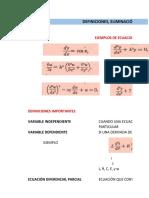 Tipos de EDO y conceptos.