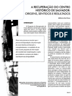 AULA 07 Márcia SantAnna - A Recuperação Do Centro Histórico de Salvador