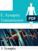 UNIT 3. E F Synaptic Transmission
