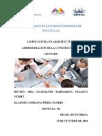 Conceptos Básicos de Administración de La Construcción II