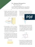 Lista de exercícios 04 - Fenômenos Eletromagnéticos