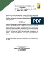 Certificacion Jdacm El Congreso