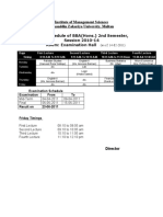 Institute of Management Sciences Time table Spring 2011 w.e.f. 14-2-2011 Final-2lastupdate