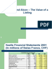 Nestle and Alcon _ The Value of a