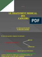 LE TRAITEMENT MEDICAL DES CANCERS (2)