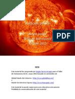 Rotación Del Sol. Sergio Torres Taller de Astronomía 30-MAY-2012