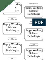 Kartu Ucapan Happy Wedding