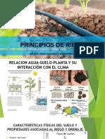 Principios de Riego Relación Agua-Suelo-Planta