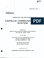 Operation and Maintenance Capsule Communications System Vol 1