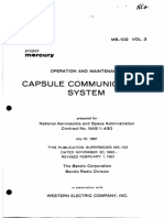 Operation and Maintenance Capsule Communications System Vol 3