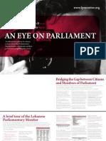 Lebanese Parliamentary Monitor pamphlet English