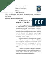 Act3-El Portafolio Electrónico y El Aprendizaje Reflexivo.